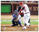 Allen Craig Autographed St Louis Cardinals Batting 16x20 Photo w/ WS Champs Inscrip (Leaf)