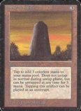 Magic the Gathering Alpha Single Basalt Monolith MODERATE PLAY (VG/EX)