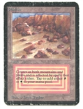 Magic the Gathering Alpha Single Plateau - HEAVY PLAY (HP)