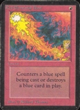 Magic the Gathering Alpha Single Red Elemental Blast - MODERATE PLAY (MP)