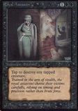 Magic the Gathering Alpha Single Royal Assassin - MODERATE PLAY (MP)