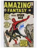 Stan Lee Autographed 11x14 Amazing Fantasy 15 Comic Cover Photo