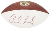 Andrew Luck Autographed Official Wilson White Panel NFL Football (JSA)