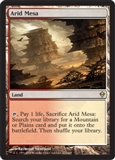 Magic the Gathering Zendikar Single Arid Mesa - MODERATE PLAY (MP)