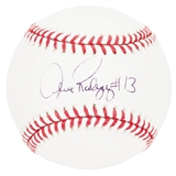 Alex Rodriguez Autographed Official Major League Baseball Graded 9  (PSA COA)