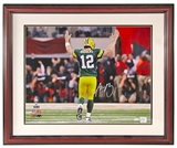 Aaron Rodgers Autographed Green Bay Packers 16x20 Framed Photo (Steiner)