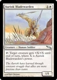 Magic the Gathering Mirrodin Single Auriok Bladewarden Foil