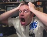 "James Rolfe 8x10 Autographed Angry Video Game Nerd ""AVGN"" Scream Photo"
