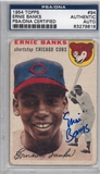 1954 Topps Baseball #94 Ernie Banks Autographed Rookie Card (PSA) *9818