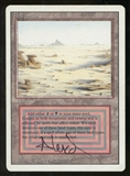 Magic the Gathering 3rd Edition Single Badlands Signed by Artist - MODERATE PLAY (MP)