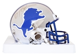 Barry Sanders Autographed Detroit Lions Chrome Mini Helmet #1924/2000 (Fanatics COA)