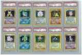 Pokemon Base Set 2 20 Holo Set - All Holos PSA Graded, Avg 8.20!