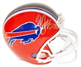 Marshawn Lynch Autographed Buffalo Bills Full Size Riddell Helmet (Mounted Memories)