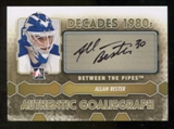 2012/13 In the Game Between The Pipes Autographs #AABE Allan Bester DEC Autograph