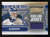 2012/13 In the Game Between The Pipes Stick and Jersey Silver #SJ12 Allan Bester /19