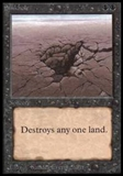 Magic the Gathering Beta Single Sinkhole - SLIGHT PLAY (SP)