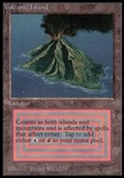 Magic the Gathering Beta Single Volcanic Island UNPLAYED (NM/MT)