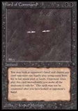 Magic the Gathering Beta Single Word of Command - SLIGHT PLAY (SP)
