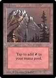 Magic the Gathering Beta Single Mountain (Ver 3) - SLIGHT PLAY (SP)