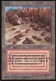 Magic the Gathering Beta Single Plateau - MODERATE PLAY (MP)