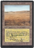 Magic the Gathering Beta Single Savannah - ARTIST SIGNED - MODERATE PLAY (MP)