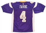Brett Favre Autographed Minnesota Vikings Reebok On Field Jersey w/Inscrip (Favre Holo)
