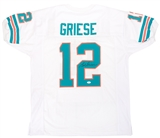 Bob Griese Autographed Miami Dolphins White Football Jersey (JSA)