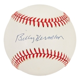Billy Herman Autographed Official MLB Baseball (PSA)
