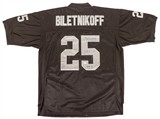 Fred Biletnikoff Autographed Oakland Raiders Black Football Jersey HOF 88