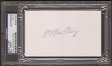 "William ""Bill"" Terry Autograph (Index Card) PSA/DNA Certified *7901"