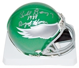 Bill Bergey Autographed Philadelphia Eagles Mini Helmet w/ 1988 Ring of Honor inscrip (Leaf)
