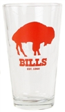 Boelter 16 OZ Buffalo Bills 1960 Vintage Pint Glass