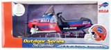 Buffalo Bills Football Die Cast Snowmobile 1:18 Scale