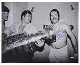 Billy Smith Autographed NY Islanders Stanley Cup 16X20 Photo (Steiner)