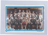 1980/81 Topps Basketball Boston Celtics Pin-Up #2 (Bird Rookie!)
