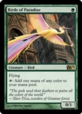 Magic the Gathering 2012 Single Birds of Paradise - SLIGHT PLAY (SP)