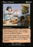Magic the Gathering Mercadian Masques Single Black Market - SLIGHT PLAY (SP)