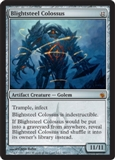 Magic the Gathering Mirrodin Besieged Single Blightsteel Colossus FOIL
