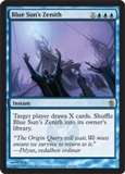 Magic the Gathering Mirrodin Besieged Single Blue Sun's Zenith UNPLAYED (NM/MT)