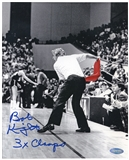 Bobby Knight Autographed Indiana University 8x10 Basketball Photo w/ 3x Champs(Steiner)