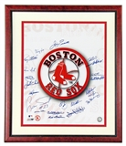 Boston Red Sox Autographed (21 Signatures) Framed 16X20 Piersall/Kell/Tiant/Zimmer