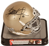 Brady Quinn Autographed Notre Dame Fighting Irish Schutt Mini Helmet (Press Pass)