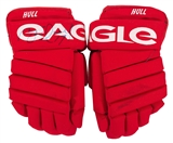 Brett Hull Autographed Detroit Red Wings Game Used Eagle CP94 Gloves (Hockeytown Auth)