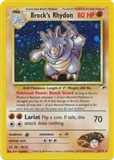Pokemon Gym Heroes Single Brock's Rhydon 2/132 - SLIGHT PLAY (SP)