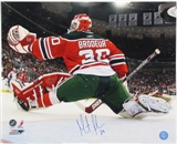 Martin Brodeur Autographed New Jersey Devils 16x20 Photo Back