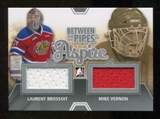 2012/13 In the Game Between The Pipes Aspire Jerseys Silver #ASP11 Laurent Brossoit/Mike Vernon /140