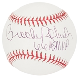 Brooks Robinson Autographed Baltimore Orioles MLB Baseball w/ 66 ASMVP inscrip