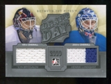 2012/13 In the Game Between The Pipes Draft Day Jerseys Silver #DD10 Ilya Bryzgalov/Henrik Lundqvist /100