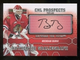 2012/13 In the Game Between The Pipes Autographs #ABB Brendan Burke Autograph
