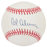 Cal Abrams Autographed Rawlings National League MLB Baseball (JSA COA)